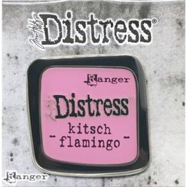 Kitsch Flamingo Distress Enamel Collector Pin