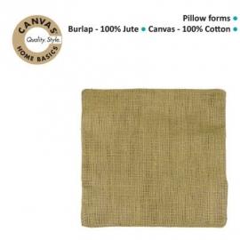 Pillow burlap square