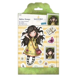 Gorjuss Large Rubber Stamps - Spring At Last