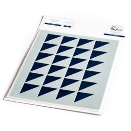 Stencil A2 Mirrored Triangles