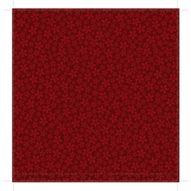 Patterned single-sided red flower