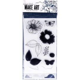 Make Art Stamp, Die & Stencil Set Country Flowers