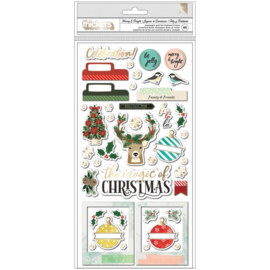 Warm Wishes Chipboard Thickers Stickers