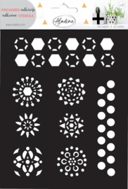 Adhesive Stencil Hexagons