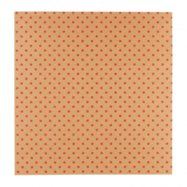 """Patterned single-sided 12x12"""" red 3D dot"""
