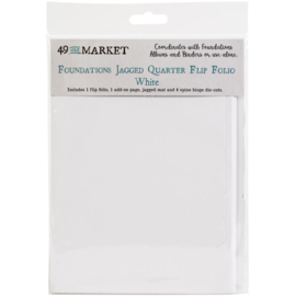 Foundations Jagged Quarter Flip Folio White
