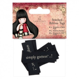 Gorjuss Stitched Ribbon Tags