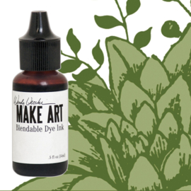 Make Art Dye Ink Pad Reinkers Fern Green