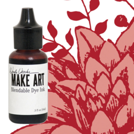 Make Art Dye Ink Pad Reinkers Red Geranium
