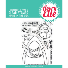 "Clear Stamp Set Sea-Prise! 4""X3"""