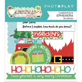 Tulla & Norbert's Christmas Party Ephemera Cardstock Die-Cut