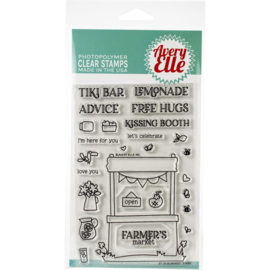 "Clear Stamp Set Market Stand 4""X6"""