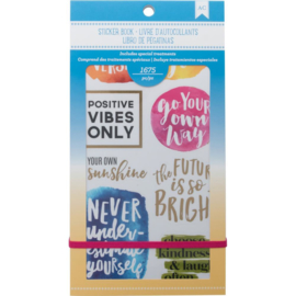 Planner Stickers 12-Page Book Inspirational Life