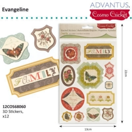Evangeline 3D stickers