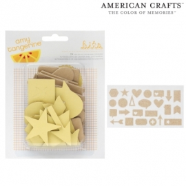 Adhesive chipboard pieces