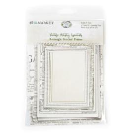 Vintage Artistry Essentials File Frame Set Rectangle Stitched