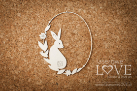 Easter Bunny Frame with rabbit