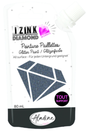 Izink Diamond Glitter Paint 24 Carats Black