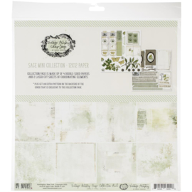 "Vintage Artistry Sage Collection Pack 12""X12"""