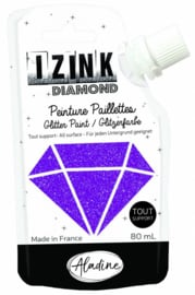 Izink Diamond Glitter Paint Violet