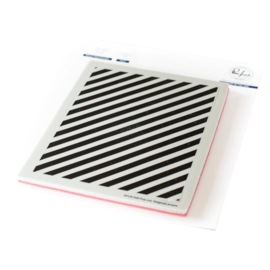Cling Rubber Background Stamp Set A2 Pop-Out Diagonal Stripes