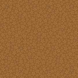 Patterned single-sided brown flower