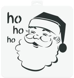 Stencil Santa Claus