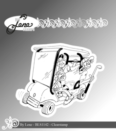 Clear Stamps Funny Golf Player
