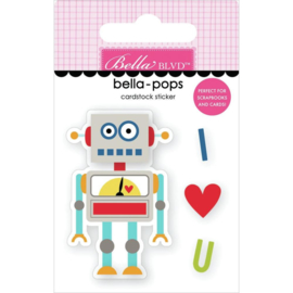 To The Moon Bella-Pops 3D Stickers Mr. Robot