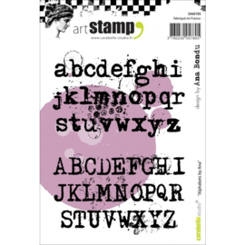 Cling Stamp A6 Alphabets