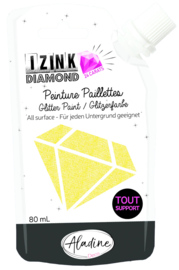 Izink Diamond Glitter Paint 24 Carats Yellow