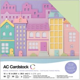 "Variety Cardstock Pack Pastels 12""X12"""