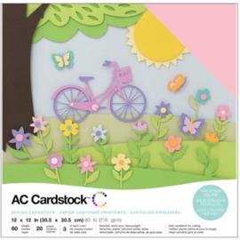 "Variety Cardstock Pack Spring 12""X12"""