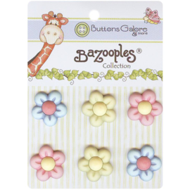 BaZooples Buttons Multi flowers
