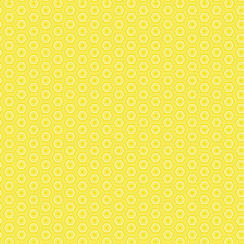 Patterned single-sided yellow hexagon