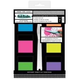 Mixed Media Texture Paste Set (6) Colors & (1) Palette Knife