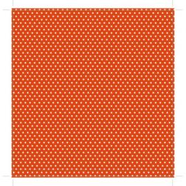 Patterned single-sided orange sm. dot