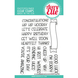 "Clear Stamp Set Banner Bits 4""X6"""