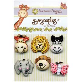 BaZooples Buttons Gertrude & Friends