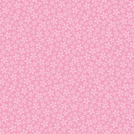 Patterned single-sided l.pink flower