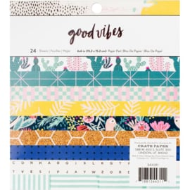 "Good Vibes Paper Pad 6""X6"""
