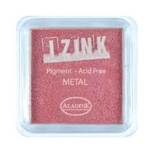Inkpad Izink Pigment Metal Red Small