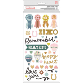 Market Square Thickers Stickers Together Phrase/Puffy