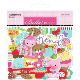 My Candy Girl Cardstock Ephemera Icon