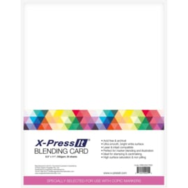 """Blending Card 8.5""""X11"""" 25/Pkg White"""