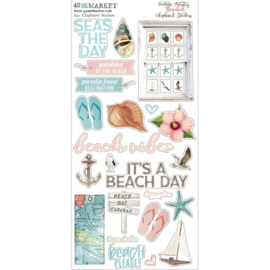Vintage Artistry Beached Chipboard Stickers