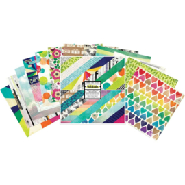 "Color Kaleidoscope Paper Pad 12""X12"""