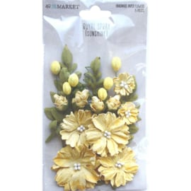 Royal Spray Paper Flowers Sunshine