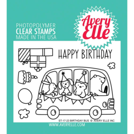 "Clear Stamp Set Birthday Bus 4""X3"""