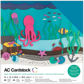 "Variety Cardstock Pack Jewel 12""X12"""